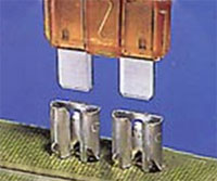 Accu-Pak receptacles provide dependable mating with standard male terminals, posts, and blade or fuse type terminals.