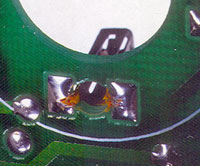 A thin tape applied to receptacles ends solder-wicking problems.